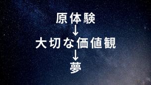 原体験→大切な価値観→夢